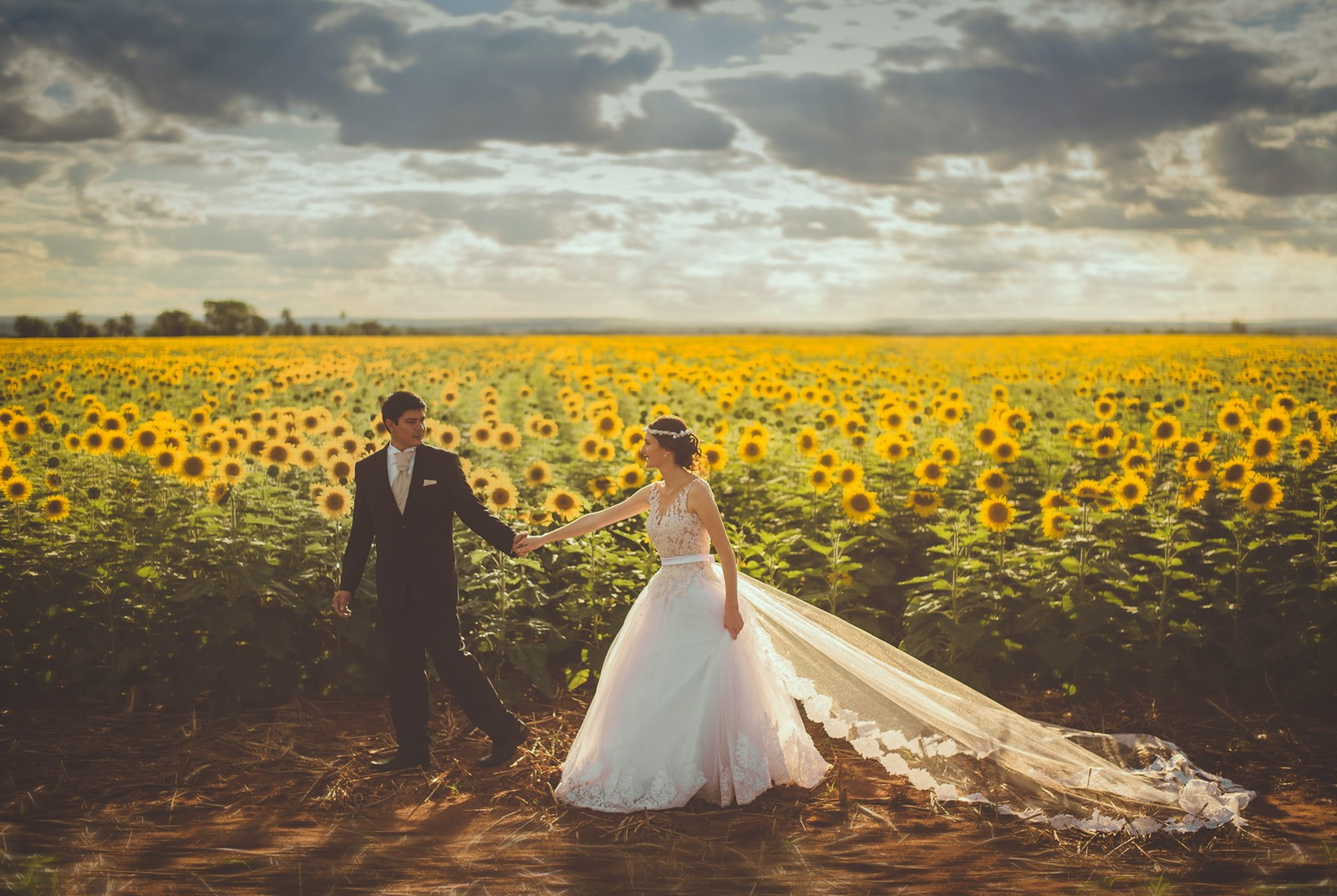 the future of wedding suppliers contracts - legal advice for wedding suppliers - stanford gould online - bride and groom in sunflowers